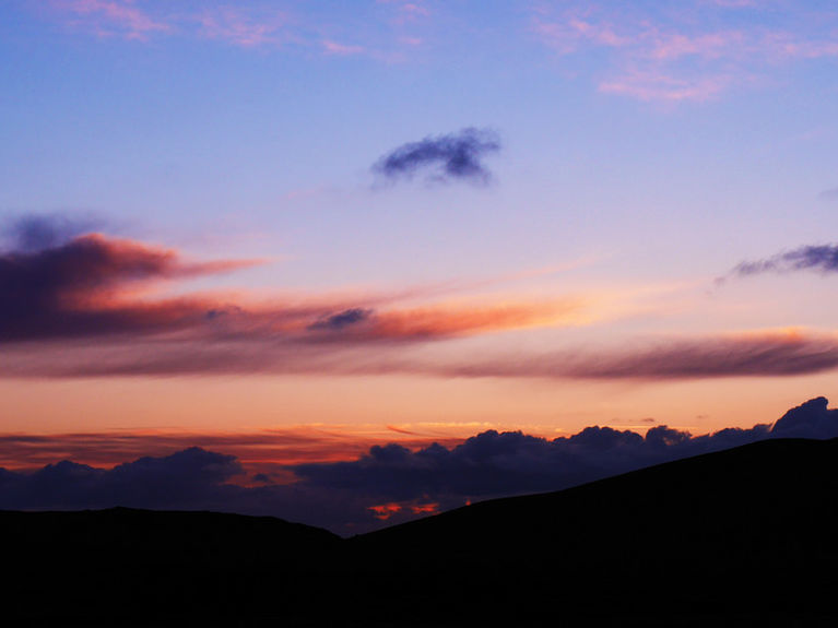 Sunset from Strathchailleach Bothy