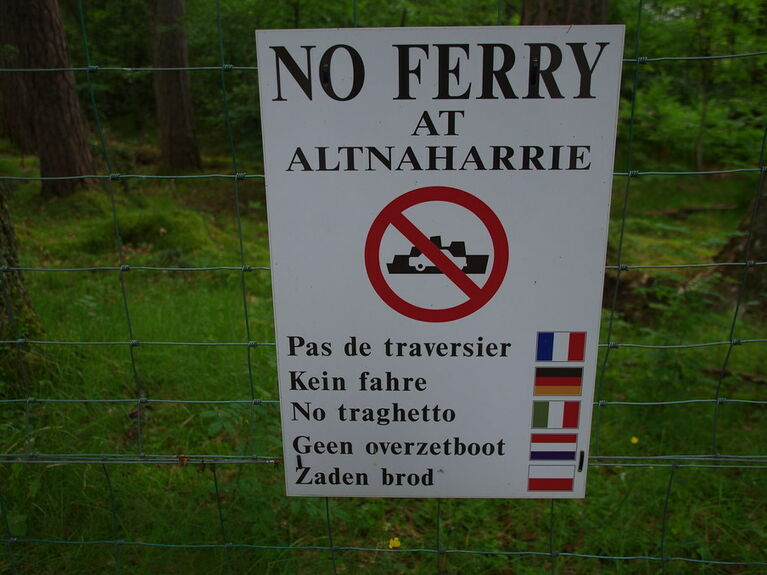 No ferry at Altnaharrie